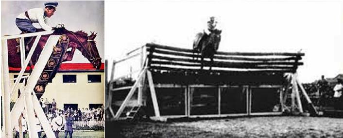 Federico Caprilli compitiendo en salto de altura