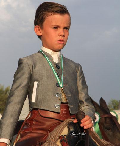 Oro en Alevines Luis Cordero Linares en el Campeonato de España y de Andalucía de Doma Vaquera 2015
