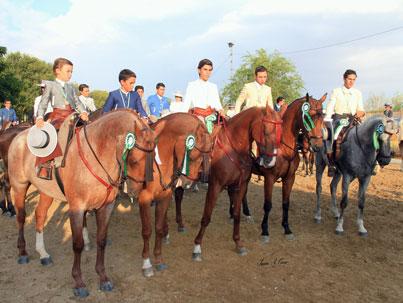 Los cinco Oros del Campeonato de Andalucía de Doma Vaquera 2015 de Menores